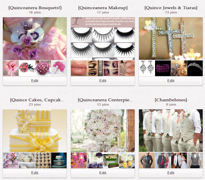 Some of our boards on the My Perfect Quince Pinterest page~