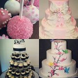 Quinceanera cakes, cupcakes and cake pops