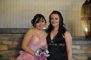 Arianna and Sarah at Arianna's Quinceanera Reception