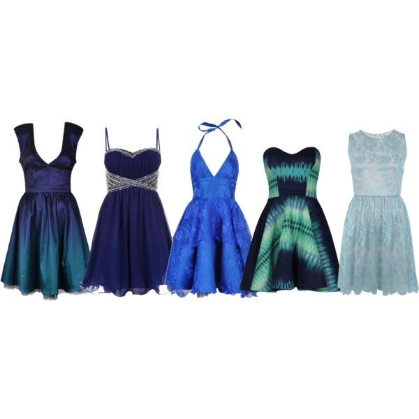 ca53368d028 Blue dama dresses would work well with many quince themes~ ...