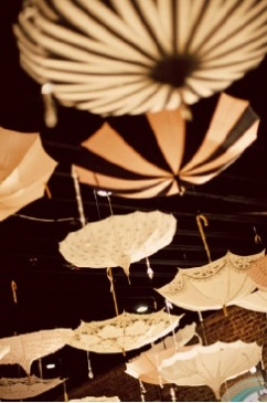 quinceanera parasol decorations