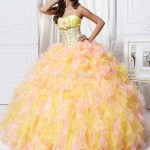 yellow quinceanera