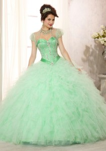 A Mint, Pink and Gold Quinceanera | My Perfect Quince