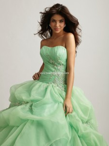 Mint quinceanera dress