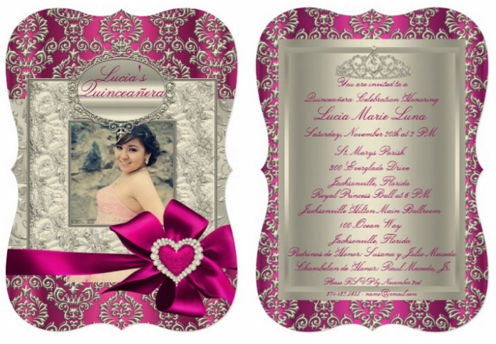 Fancy Zazzle.com quinceanera invitations