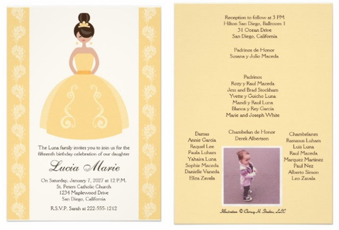 Zazzle Quinceanera Invitations Review | My Perfect Quince
