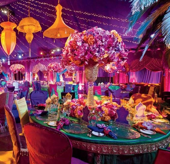 Create an arabian nights theme my perfect quince for Arabian nights decoration
