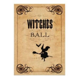 Halloween quinceanera theme invitations