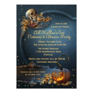 Halloween quinceanera invitations