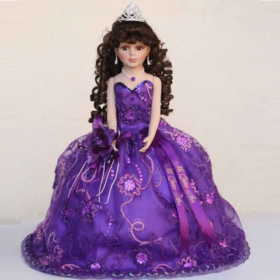 dd2a8797add ... doll with a dress matching her specific quinceanera dress. The last  doll can also be displayed at the party after it is presented to the  quinceanera