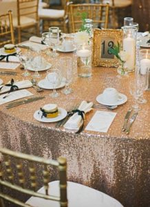 rose gold quinceanera theme